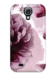 Premium Durable Flower Artistic Abstract Artistic Fashion Tpu Galaxy S4 Protective Case Cover