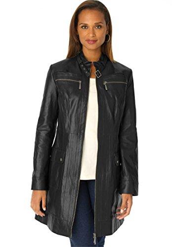 Classic 3/4 Length Leather Coats - 8
