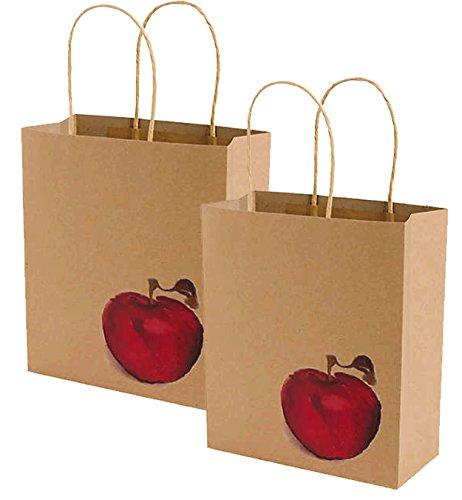 - Back To School, Teacher Appreciation, End of School Year Teacher Inspired Apple Kraft Gift Bag! (Set of 2)