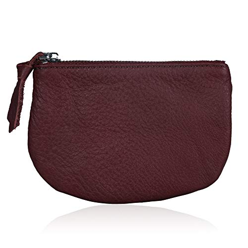 Befen Women Small Cute Leather Wallet, Soft Mini Coin Purse with Card Slots for Women and Teens Girls (Burgundy Coin Purse) by befen (Image #4)