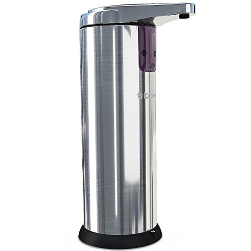 60%OFF iCooker Soap Dispenser - Automatic Kitchen Hand Touchless Sensor Pump - Stainless Steel Sanitizer - Compact & Handheld -Best For Shower Kids - Wall Mounted - Chrome 250ml (8oz)