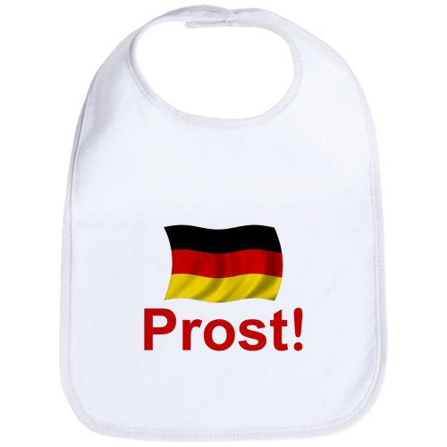 CafePress - German Prost (Cheers!) - Cute Cloth Baby Bib, Toddler Bib - German Baby Clothes