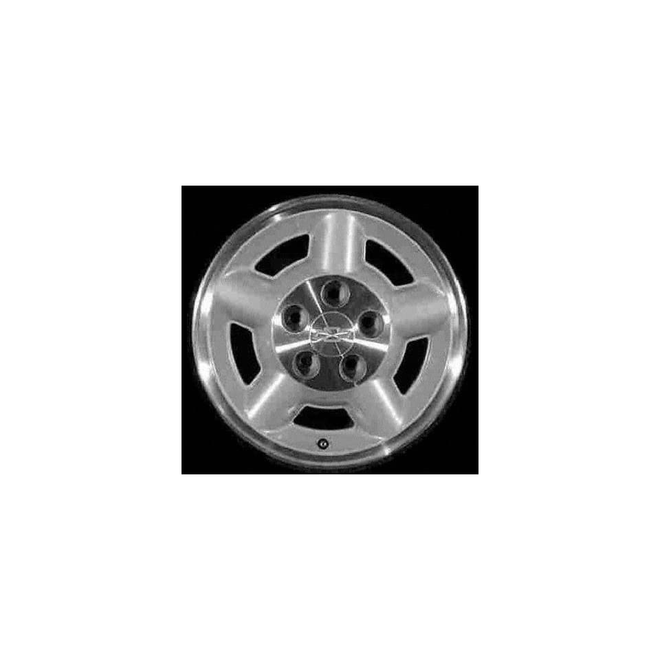95 03 CHEVY CHEVROLET BLAZER S10 s 10 ALLOY WHEEL RIM 15 INCH SUV, Diameter 15, Width 7 (5 SPOKE, 4X4), 4x4, MACHINED LIP AND LUG AREA. SILVER SPOKES, 1 Piece Only, Remanufactured (1995 95 1996 96 199