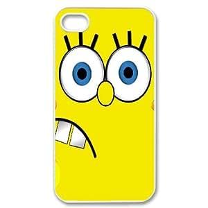 [Sponge Bob Square Pants Series] IPhone 4/4s Case Sponge Bob Square Pants, Bloomingbluerose - White