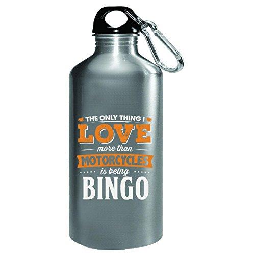 Love Being Bingo More Than Motorcycles Biker Gift - Water Bottle -