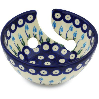 Polish Pottery Yarn Bowl