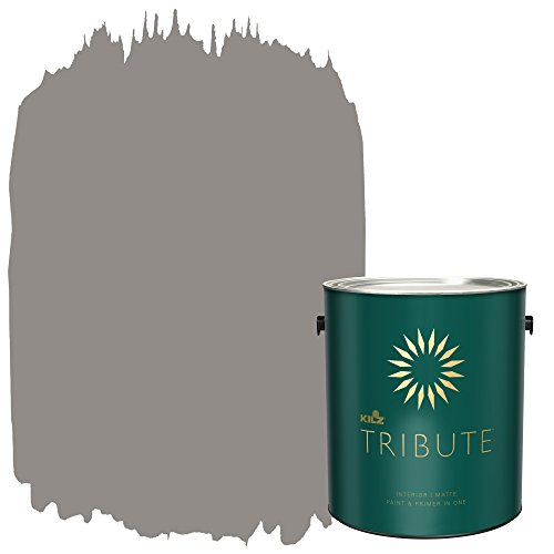 KILZ TRIBUTE Interior Matte Paint and Primer in One, 1 Gallon, Chalk Suede (TB-28) (Matte Chalk)