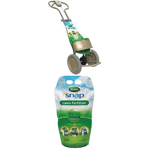 Scotts Snap Spreader & Snap Pac Lawn Fertilizer Bundle