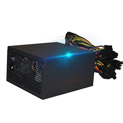 Sikye Steel Shell 2000W ATX Gold Mining Power Supply SATA IDE 8 GPU for ETH BTC Ethereum (160-240V) by Sikye (Image #7)