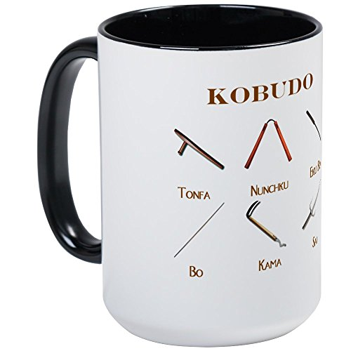 CafePress - Kobudo Weapons Large Mug - Coffee Mug, Large 15 oz. White Coffee Cup