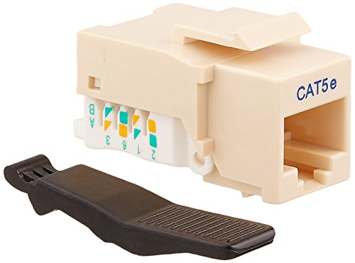 Cables Unlimited UTP-3605 Ivory CAT5e Tool Less Keystone Jack 1 in Ivory