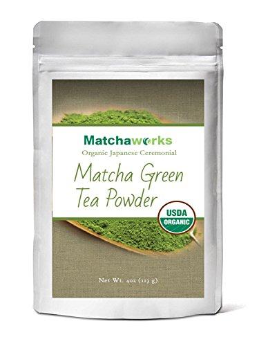 UPC 714983672634, Matchaworks Matcha Green Tea Powder Organic, Japanese Ceremonial Grade, 4oz