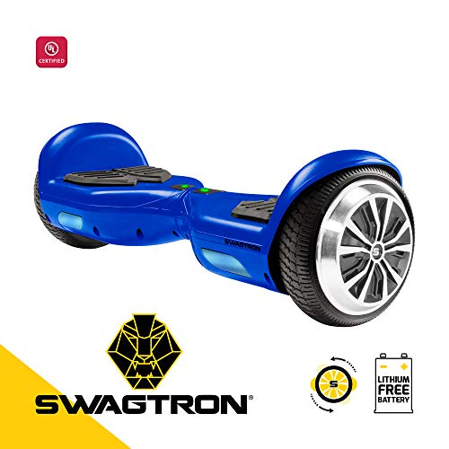 Swagboard Twist T881 Lithium-Free Kids Hoverboard - Easy Balance Wheels, Blue