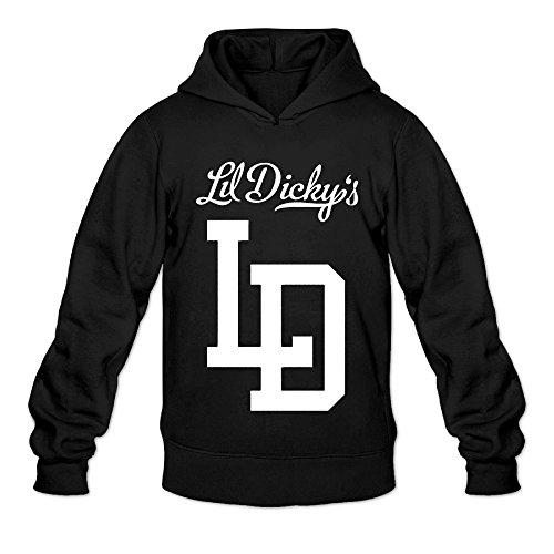 DVPHQ Men's Classic Lil LD Logo Dicky Hoodie Size M Black