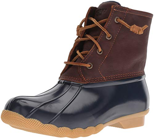 Sperry Womens Saltwater Boots, Tan/Navy, 7.5 Wide