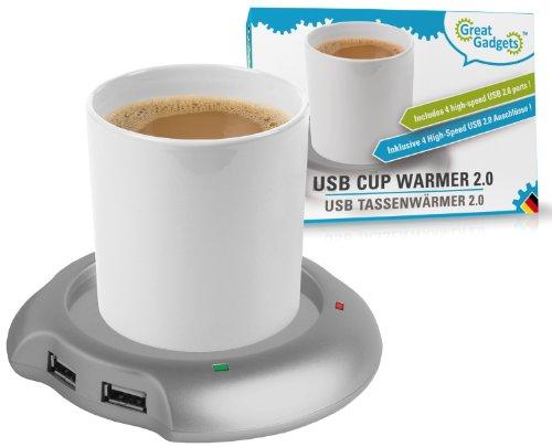 GreatGadgets 3022 USB Tassenwärmer mit 4fach Hub