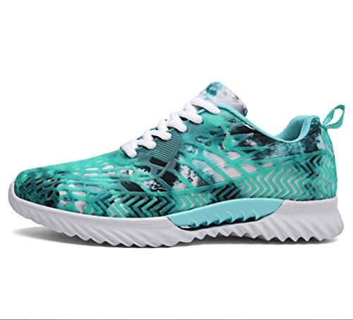 コントローラ立証する勝者メンズ軽量カジュアルシューズ多目的大型スポーツシューズ恋人靴学生靴通気性靴メンズレディースランニングシューズ (色 : Aqua Blue, サイズ : 45)