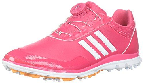 adidas Women's Adistar Lite BOA Golf Shoe, Real Pink/White/Real Gold, 7.5 M US