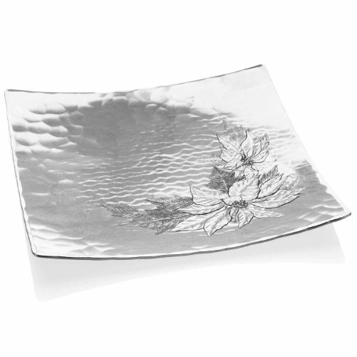 Poinsettia Accent Plate (Wendell August Forge Poinsettia Square Plate, 10-Inch)