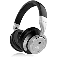 Active Noise Cancelling Bluetooth Headphones, iDeaUSA Wireless Over Ear Headphones with Microphone, HiFi Stereo Sound, Headphones for TV, Running, Sports - Silver