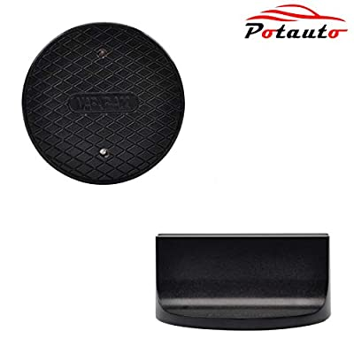 POTAUTO Universal Aluminum Grooved Magnetic Jack Pad Jacking Puck Pinch Weld (Slot Width 0.39 Inch) Frame Rail Adapter (Qty 1, Black): Automotive