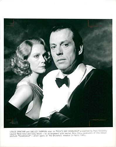 Vintage photo of Leslie Grantham British actor and ricks bar casablanca.