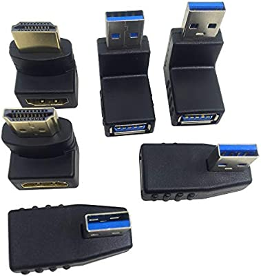 Adapter Adaptor Converter Connector USB A 2.0 1.1 Male to USB A Female Right