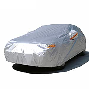 """Kayme Car Covers Waterproof All Weather Sunproof Light Strong Polyester For Automobiles Indoor Outdoor Mazda 3 Ford Focus Mini Cooper Audi A3 VW Golf 2L (159""""-173"""" L) For Hatchback"""