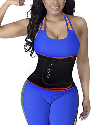 YIANNA Waist Trainer Slimming Body Shaper Belt - Sport Girdle Waist Eraser Trimmer Compression Belly Weight Loss Fitness Tummy Control, YA8010-Red-(S) (Neoprene Belt Waist)