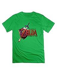 The Legend Of Zelda T-shirts L ForestGreen For Men Cotton