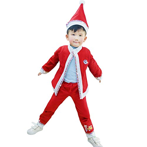Leeau New Shop Big Sale Child Santa Suit,Christmas Costume For Boys,Santa Claus Suit For Kids