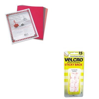 Price comparison product image KITPAC103637VEK90069 - Value Kit - Velcro Sticky-Back Hook and Loop Dot Fasteners on Strips (VEK90069) and Pacon Riverside Construction Paper (PAC103637)