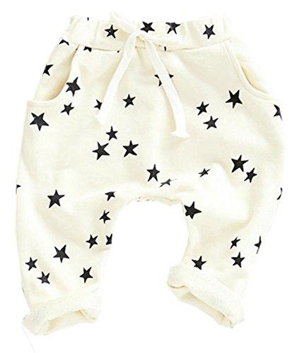 Betusline Baby Girls Boys Fashion Star Printed Casual Harem Pants