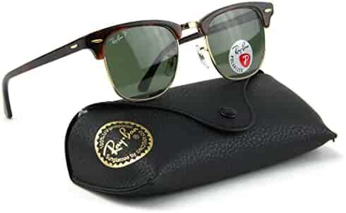 21f77eadfc1 Ray-Ban RB3016 990 58 Clubmaster Red Havana   Crystal Green Polarized Lens  49mm