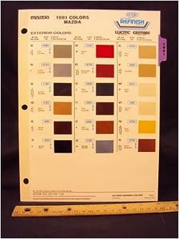 mazda paint codes