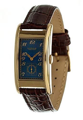 (Circa Men's Rectangular Watch Blue And Gold CT125T [Watch])