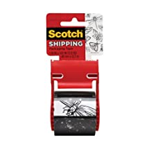 Scotch Shipping-Packaging Tape, Printed Tape, Butterflies and Insects, 48mm X 12.7m, 1 Roll, (141-PRTD1-ESF)