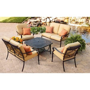 PATIO FURNITURE CAST ALUMINUM OUTDOOR LAWN U0026 GARDEN PAXTON PLACE BETTER  HOMES U0026 GARDENS 5 PC