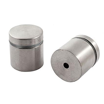 Amazon.com : 2 piezas DE 30 mm x 30 mm tono de Plata de ...