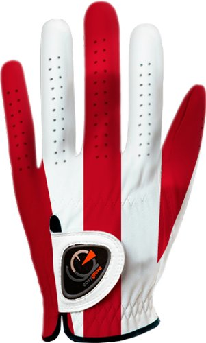Custom Golf Gloves - easyglove Classic_RED-Large Men's Golf Glove (White), Large, Worn on Left Hand