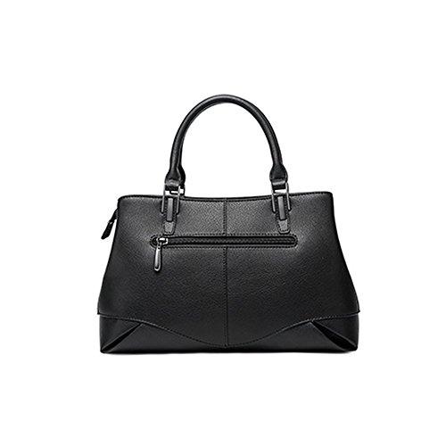 Leather Soft Shoulder Pockets Multiple Women Handbags Q0929 Bag Dissa Black ap4tn7qEw