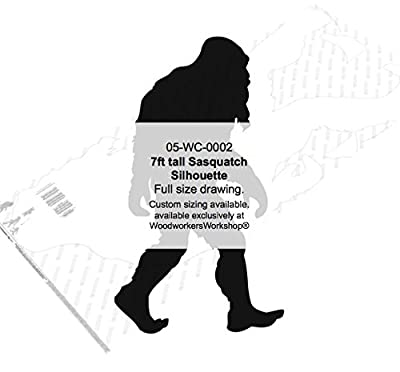 WoodworkersWorkshop Woodworking Plan to Make Your Own Bigfoot Sasquatch 7ft tall Yard Art (Not a RTA Kit) by WoodworkersWorkshop®