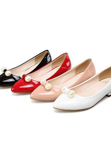 5 bajo libre 7 PDX blanco comodidad boda rojo tacón Flats rosa Toe red negro uk4 zapatos señaló de aire 5 eu37 casual vestido 5 us6 cn37 al de mujer xBwrBXOq