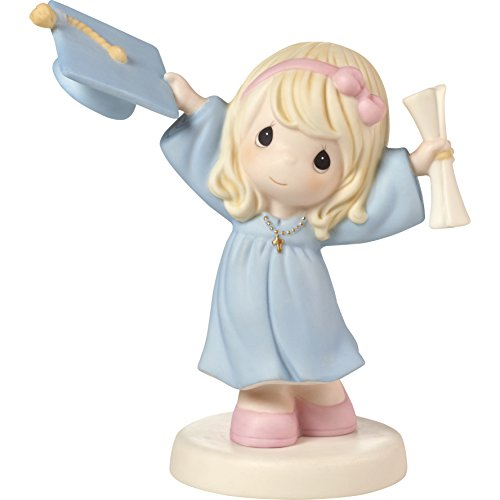Precious Moments With God All Things Are Possible Graduation Girl with Cap & Diploma Bisque Porcelain Home Decor Collectible Figurine (Precious Moments God)