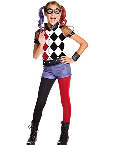 Cool Tween Girl Halloween Costume Ideas (Rubie's DC Superhero Girl's Harley Quinn Costume, Large)