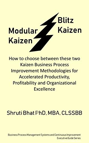 Modular Kaizen Vs Kaizen Blitz: How to Choose between these two Kaizen Business Process Improvement Methodologies for Accelerated Productivity, Profitability ... Improvement Executive Guide Series Book 7)