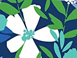 Pack of 1, Periwinkle 24'' x 833' Gift Wrap Full Ream Roll w/Floral & Classic Print Designs