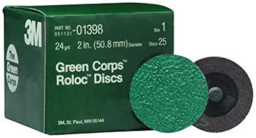3M 264f Green Corps Roloc 2 in. Disc 24 Bx 01398