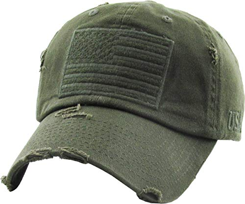 KBVT-209 OLV Tactical Operator with USA Flag Patch US Army Military Baseball Cap - Army Us Cap