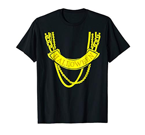 Funny Halloween Fake Gold Chains T Shirt -